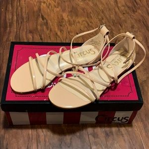 NWT Sam Edelman Nude Bonita Strappy Sandals